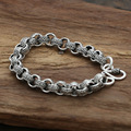 S925 wholesale sterling silver jewelry silver star with a Korean man retro   Bracelet Silver Paper