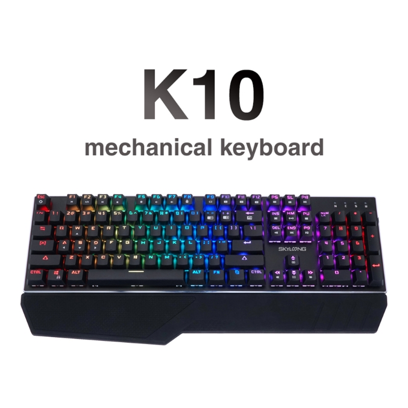 K10 104 Key Mechanical Keyboard USB Wired LED Backlit Axis Gaming Mechanical Keyboard For Desktop ...