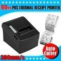 Доставка DHL Высокая Скорость 300 мм/Сек 80 мм Тепловой Термопечать Чековый Принтер USB/Ethernet/Serial с Автоматическим Резаком