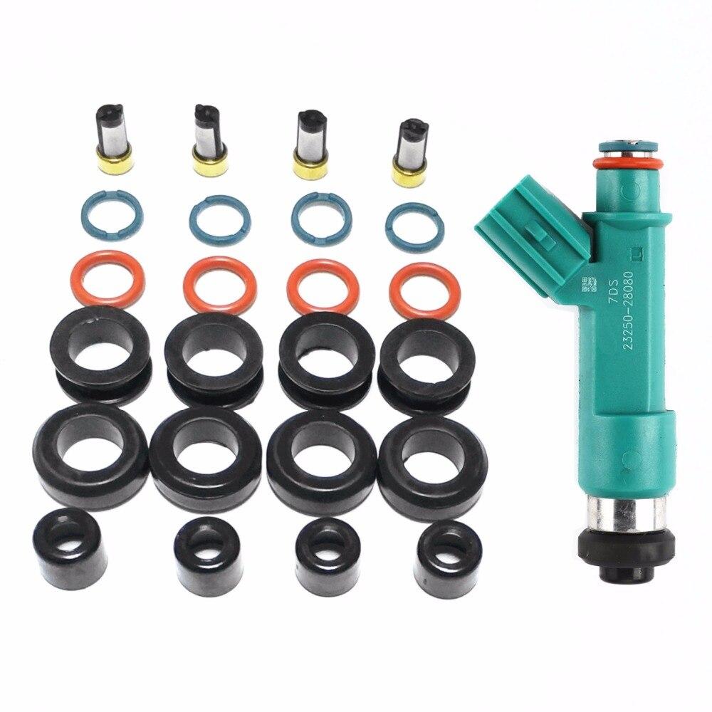 4 kits fuel injector repair kits For 23250-28080 195500-0310 fit forToyota Corolla Camry Rav4 Solara Scion 2.4L(AY-RK107)4 kits fuel injector repair kits For 23250-28080 195500-0310 fit forToyota Corolla Camry Rav4 Solara Scion 2.4L(AY-RK107)
