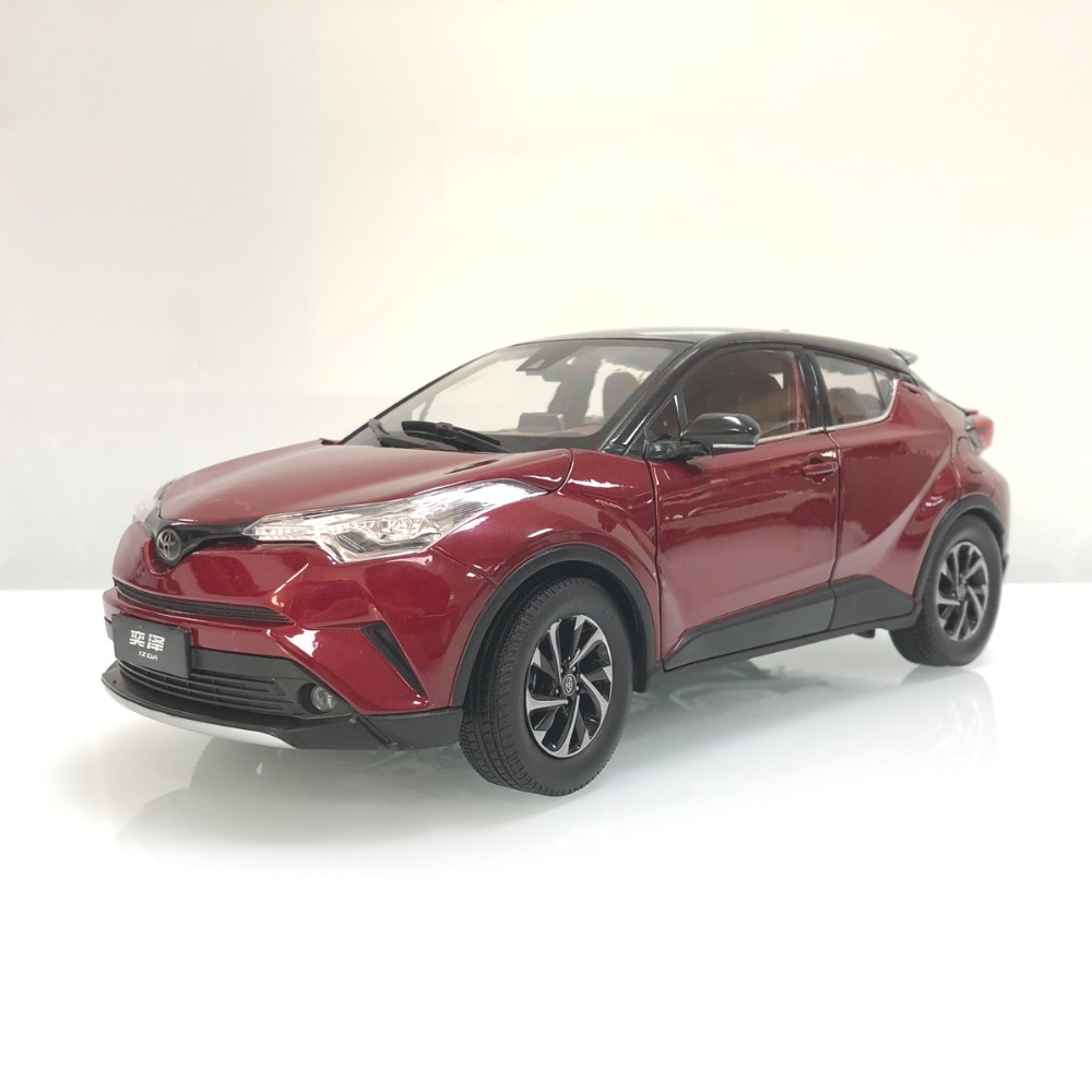 1:18 Diecast Model for Toyota IZOA C-HR 2017 Red Alloy Toy Car Miniature Collection Gifts CHR C HR