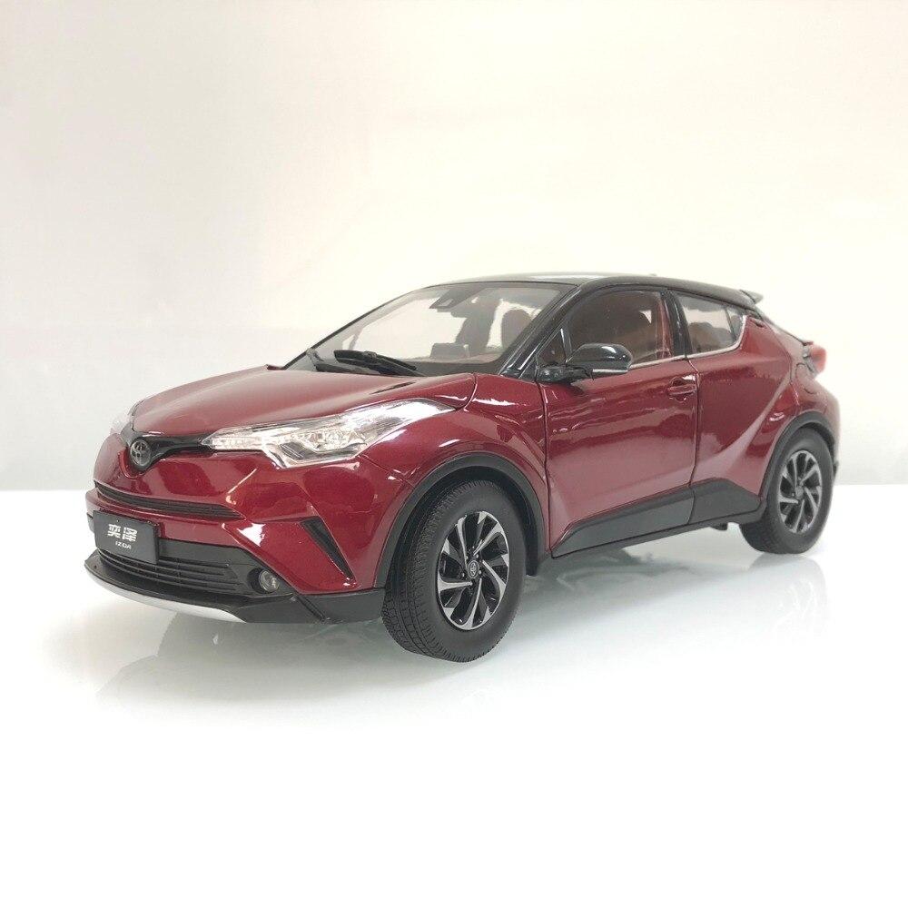 1:18 Miniature: pour Toyota IZOA C-HR 2017 Rouge Alliage Jouet Voiture Miniature Collection Cadeaux CHR C HR