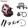 Kunray E велосипед среднего привода двигателя 500 Вт 48 в 36 В Электрический велосипед конверсионный комплект TSDZ2 VLCD5 дисплей Датчик крутящего моме...