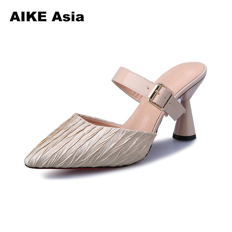 2019 Spring Summer Brand Women Pumps Sexy High Heels Pointed Toe Black Red Office Dress Party Woman Pumps Spike Heels