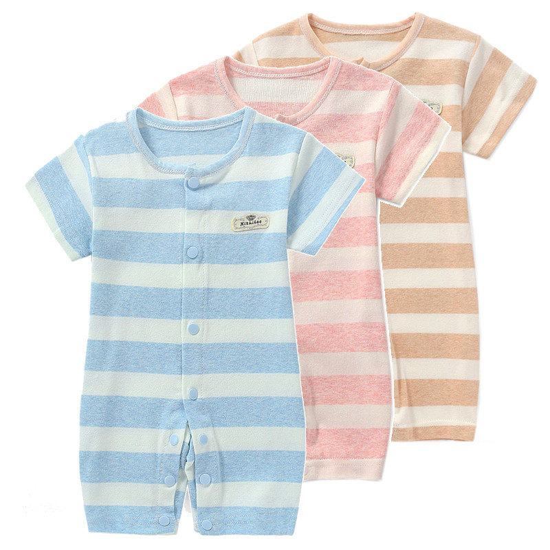 Cotton 4colors Baby Rompers Body suit Summer Style Powered Baby Boy Girl Clothing Newborn Infant Rabbit Short Sleeve Clothes 2016 summer short sleeve baby boy sailor suit jumpsuit infant clothing navy newborn baby rompers