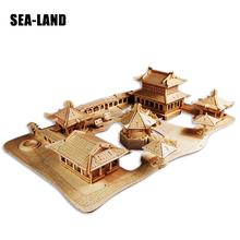 Toy For Children Of 3D Wooden Puzzle The Suzhou Classical Gardens A Diy Kids Also Adult Good Gift High Quality Wood