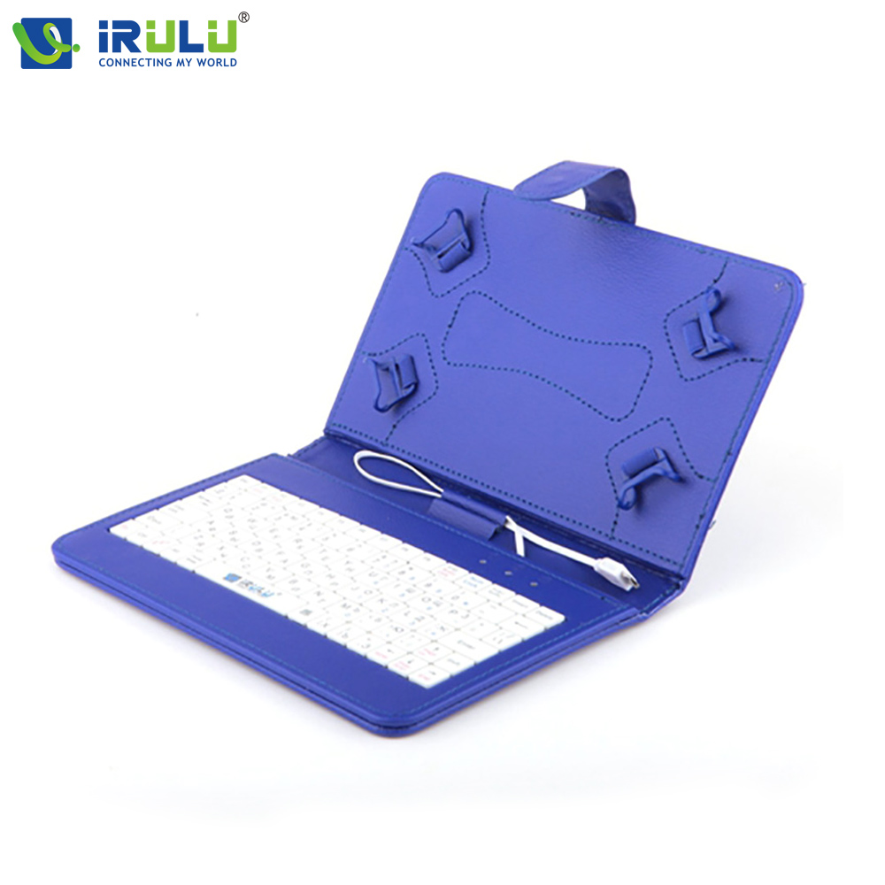 2017 iRULU Brand New Arrival for 7 Tablet PC Pad RUSSIAN KEYBOARD Using Russian Language People Leather Micro USB Keyboard Case russian keyboard 10 inch tablet case for using russian language leather micro usb keyboard case to plate tablet device