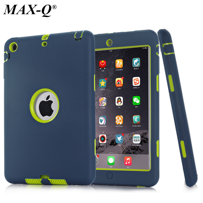 HOT!For iPad mini 1/2/3 Retina Kids Safe Armor Shockproof Heavy Duty Silicone Hard Case Cover free Screen protector film+stylus 2017 fashion kids silicone tablet case for apple ipad 2 3 4 armor shockproof waterproof heavy duty hard cover shell stylus film