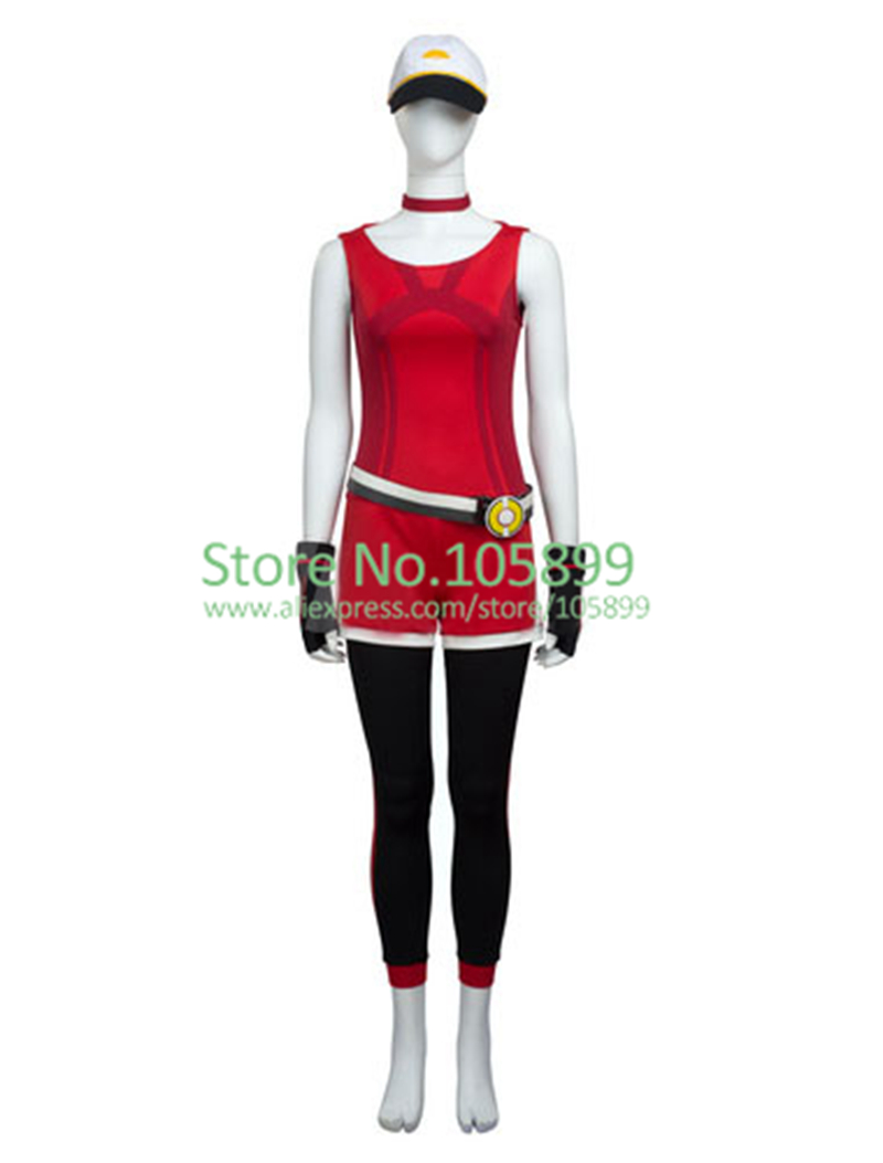 Pokemon Go Women Trainer Red Halloween Cosplay Costume