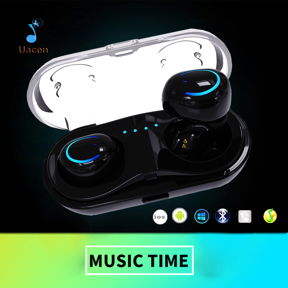 New Q18 Wireless Bluetooth Headset HiFi Bass Earphone with Charging Box Earphones for iPhone 7/8 Xiaomi Music Phone Ear Buds new dacom carkit mini bluetooth headset wireless earphone mic with usb car charger for iphone airpods android huawei smartphone