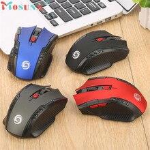 Надежная игровая мышь 6key 2,4 ГГц мини беспроводная оптическая игровая мышь и usb-приемник для ПК ноутбука