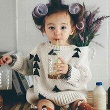 2018 Новые Детские свитер для мальчиков и девочек толстые треугольники Винтаж свитеры для женщин Bobo стиль одежда маленьких девочек джемпер демисезонный детский ко