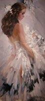 Bird wing handmade tranh sơn dầu sexy flamenco dancer tranh sơn dầu nhảy múa cô gái hình ảnh sơn sexy hình ảnh đối decor phòng ng