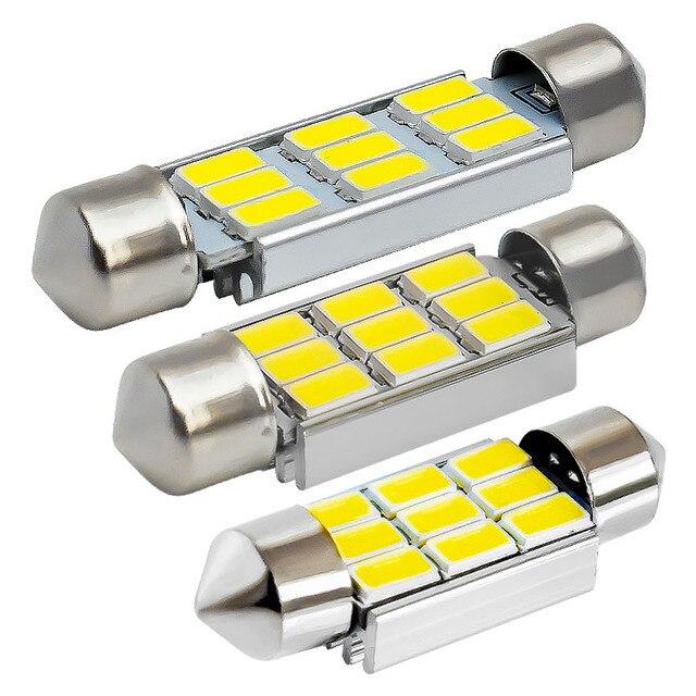 Festoon CANBUS Auto lamp 36mm 39mm 41mm C10W C5W 9 SMD 5630 5730 LED ERROR FREE car interior Dome lights bulb NO ERROR White 12V