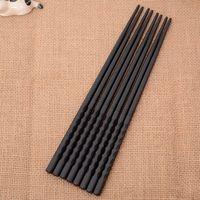 LINSBAYWU 1 пара китайские палочки для еды сплав Нескользящие суши Chop палочки набор японский подарок горячий