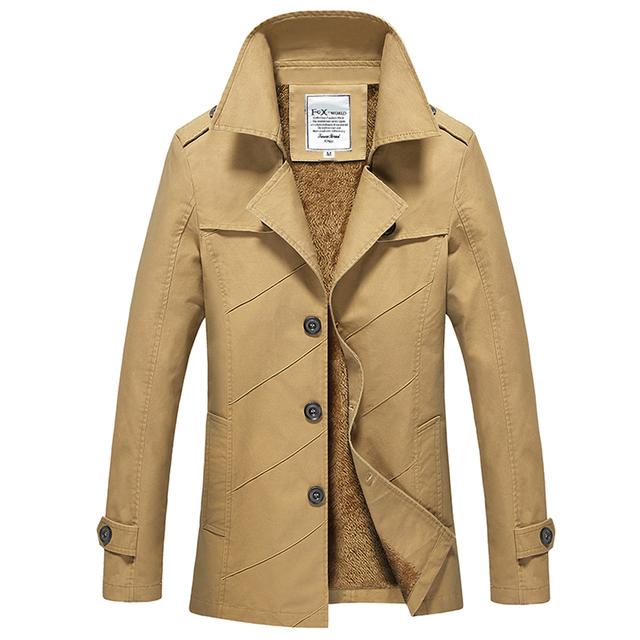 Outono Wnter Novo Médio E Longo Trench Coat Para Homens Slim Fit Plus Size Grosso Quente Veste Longue Homme