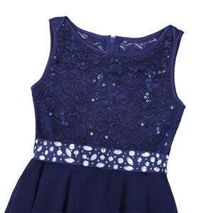 Image 5 - 우아한 어린이 여자 꽃 공주 tulle 레이스 드레스 유아 어린이 파티 들러리 공 가운 투투 드레스 어린이 옷