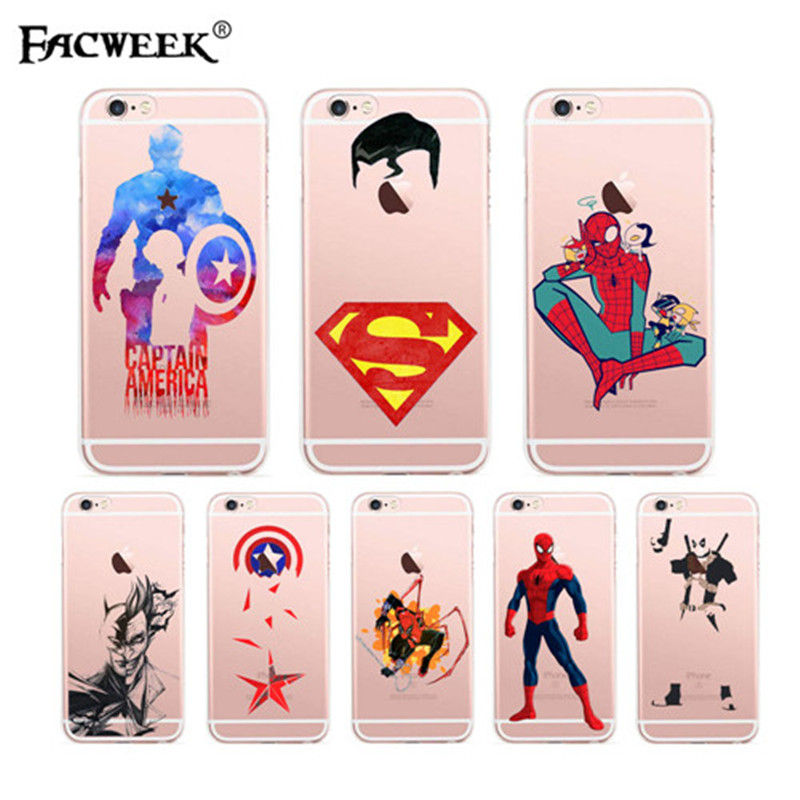 Superman <font><b>Spiderman</b></font> <font><b>Logo</b></font> For <font><b>iPhone</b></font> 6 6s Plus <font><b>Iphone</b></font> <font><b>Case</b></font> Hollow Out Transparent <font><b>Case</b></font> Fundas For <font><b>iPhone</b></font> 6 6s Plus Coque Capa