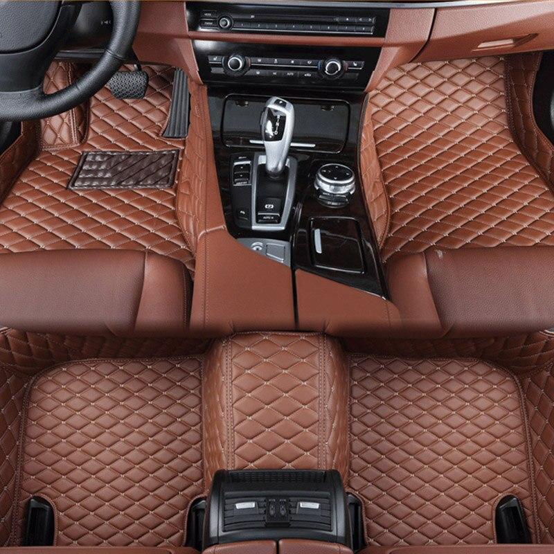 Esteiras do assoalho do carro para Mercedes Benz A B C CIA GLA D E ML SL SLK R S600 série Vito CLK Maybach Viano Sprinter CIA Personalizado auto pé