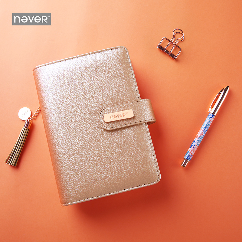 Never Leather Cover Spiral Notebook Personal Diary Weekly Planner Organizer Agenda 2018 Gift Stationery Office & School Supplies candy color leather a6 spiral notebook personal diary week planner agenda organizer planner notepad office school stationery