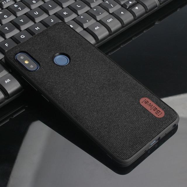 Vải sang trọng Kết Cấu Mềm Mại TPU trường hợp Đối Với Xiaomi Redmi Lưu Ý 5 Siêu mỏng silicone trường hợp Điện Thoại Redmi lưu ý 5 6 Pro Toàn Cầu Phiên Bản trường hợp