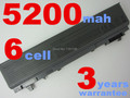 5200MAH 6CELLS  laptop battery for Latitude E6400,E6500,precision M2400,M4400 PT434 PT435 PT436 PT437  KY477 KY265 KY266 KY268