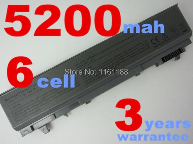 5200MAH 6CELLS  laptop battery for Latitude E6400,E6500,precision M2400,M4400 PT434 PT435 PT436 PT437  KY477 KY265 KY266 KY268