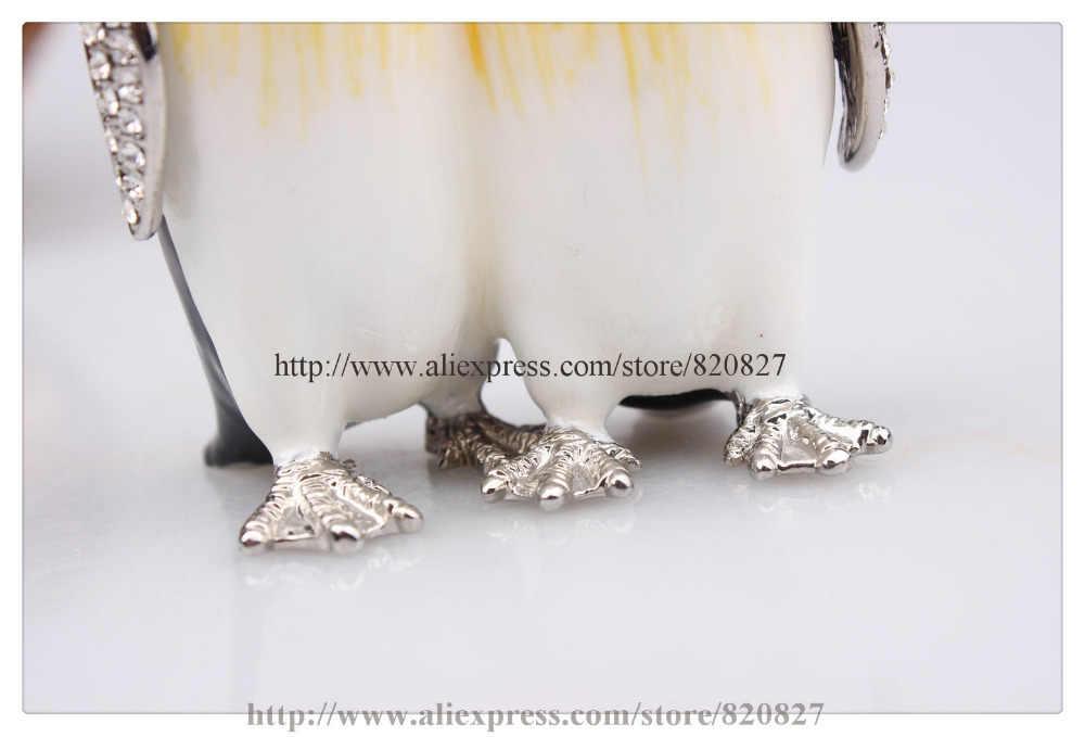 Пингвин Шкатулка Оптовая Продажа Пингвин животных шкатулка новинка пингвин кольцо в коробку из металла оловянные