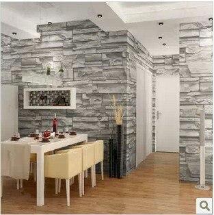 Chinesischen stil esszimmer 3d tapete stein ziegel design for 3d tapete esszimmer