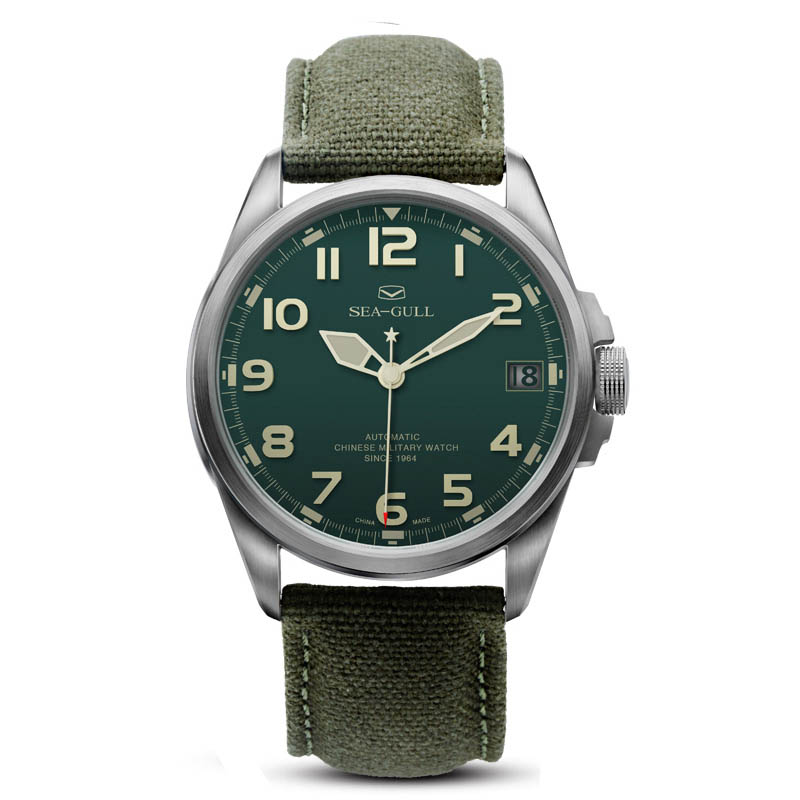 D813 518 Automatic Mechanical Men s Watch Self Winding Green Dial