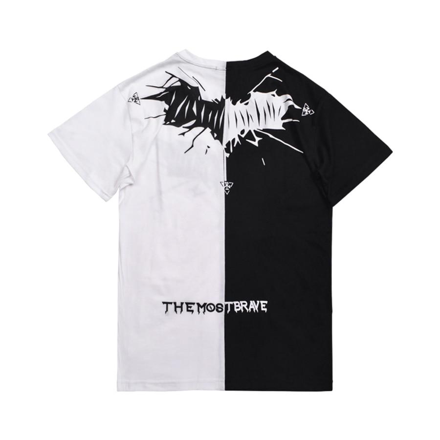 070ceaabe56 Limited Offer T Shirt Men Cotton Half Black White Summer Streetwear Hip Hop T  Shirts Print Blusa Masculina Mens tShirts Fashion 2018 50DX017