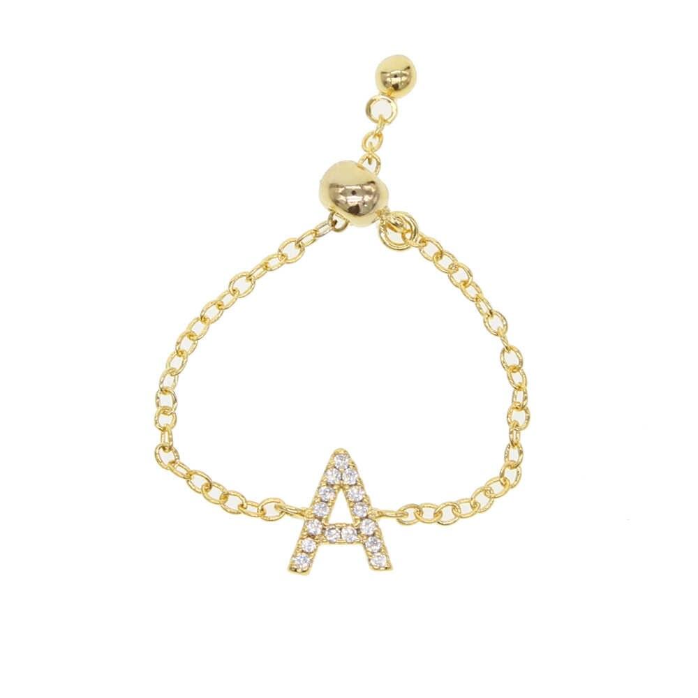 2019 амулет Alphebet, милые микро буквы с фианитами, высокое качество, звеньевая цепочка, 2019, новейший дизайн, серебряное золото, минимальное кольцо на цепочке