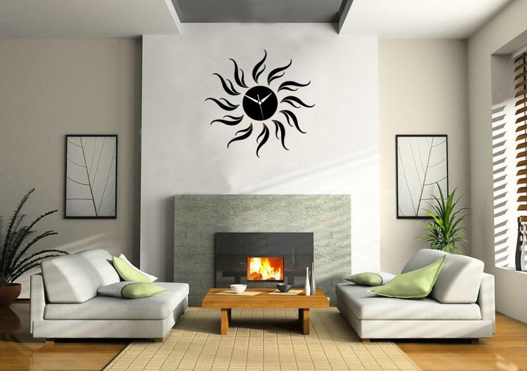 Sun Mirror 3D Clock Home Decoration Vinyl Wall Art Decals Home Decor Wall  Stickers Bedroom Living Room Removable Wallpaper Mural - Clock Live Wallpaper Promotion-Shop For Promotional Clock Live
