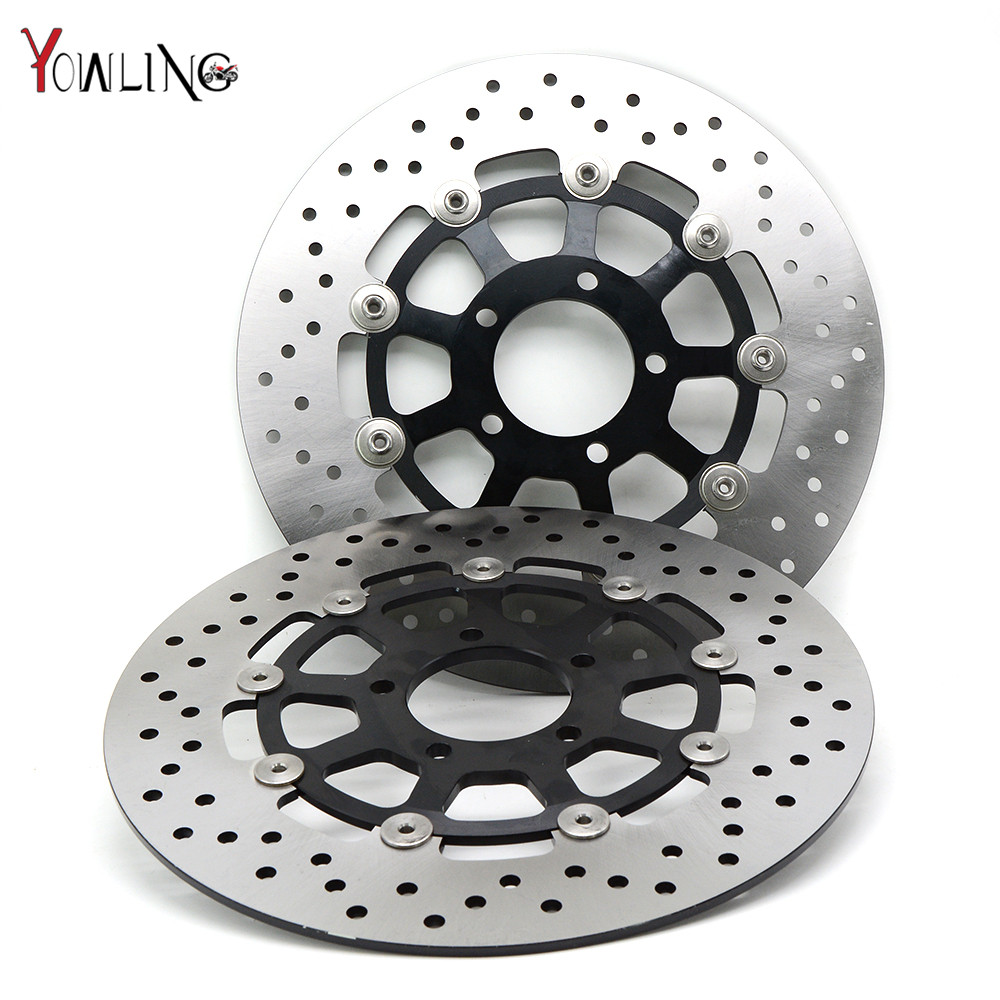 2 pieces motorcycle accessories Brake Rotors Front Brake Disc Rotor For SUZUKI GSX1400 2001 2002 2003 2004 2005 2006 2007 2008 motorcycle parts 1 pair black stainless steel mechanical motorbike front rear disc brake rotor fit for suzuki gsx r 750 2000 2001 2002 2003 front l r