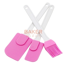 Фотография silicone cream spatula cream brush baking oil brush mixing shovel butter scraper flour scrapers 3pc/set SBT-001-7