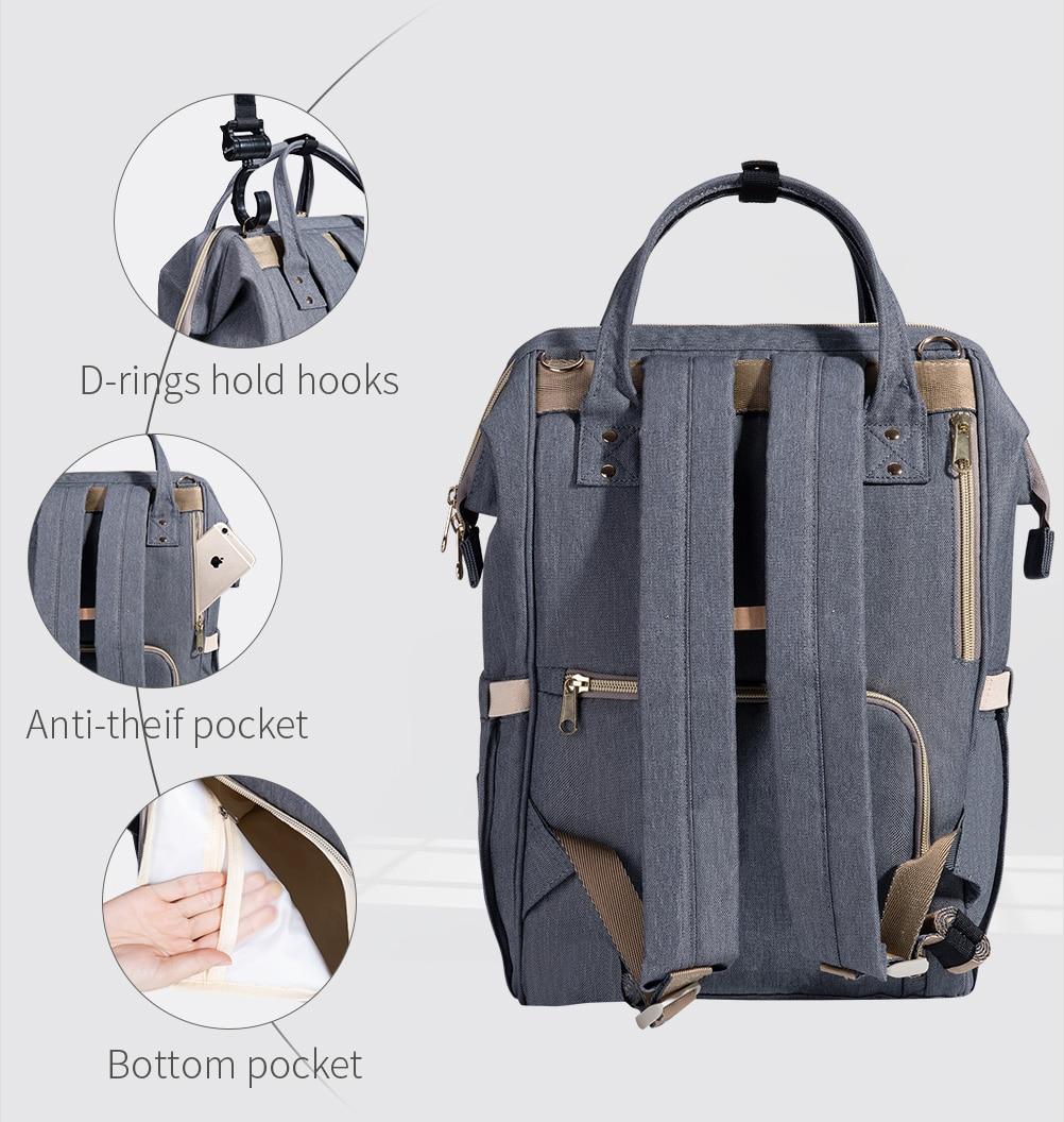HTB13fBvd79E3KVjSZFGq6A19XXaH SUNVENO Fashion Mummy Maternity Diaper Bag Large Nursing Bag Travel Backpack Designer Stroller Baby Bag Baby Care Nappy Backpack