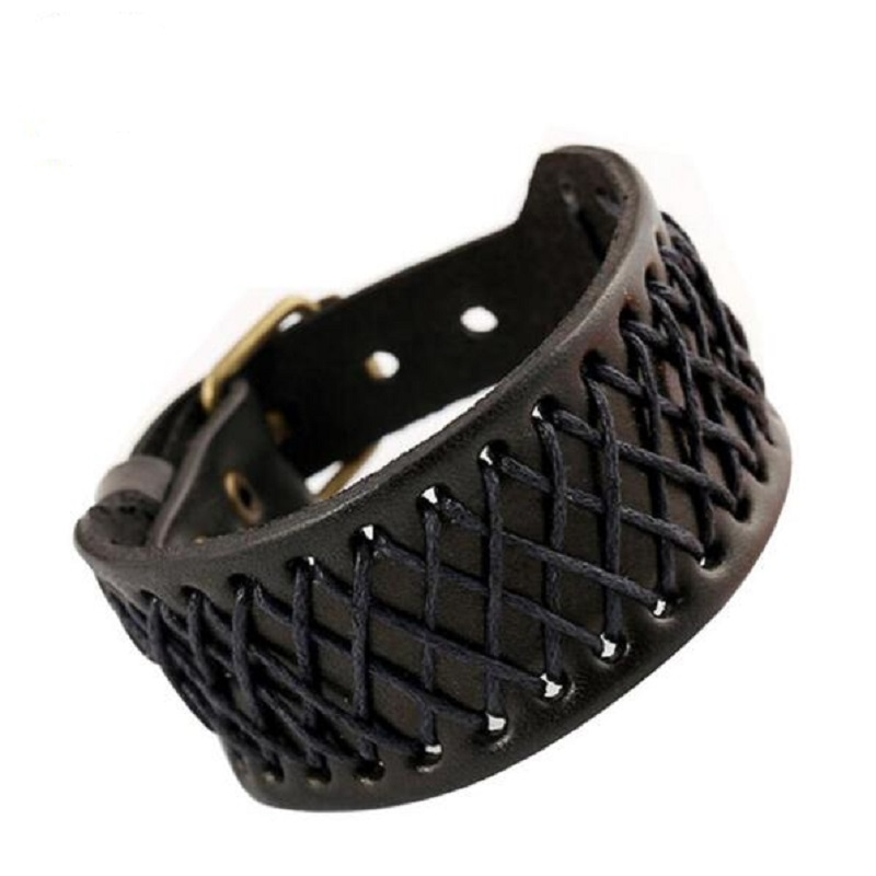 Newest 2018 Summer Fashion Simple Style Bracelet Leather Braided Chain Cuff Bracelet Wristband Wrap Bracelet For Couples Jewelry