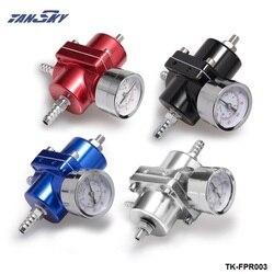 Uniwersalny jdm regulowany FPR Regulator ciśnienia paliwa 0-140 PSI Gauge wąż gazowy zestaw dla Ford Mustang 01-04 TK-FPR003