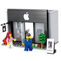 Serie de la ciudad mini calle modelo de tienda tienda con apple store hsanhe mcdonald's building block juguetes compatibles con lego