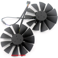 free shipping 2pcs/lot radiator computer cooler fan for ASUS STRIX GTX970 gtx 980 video VGA Graphics Card cooling