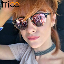 TRIOO Polarized Women Sunglasses Round Lens Brand Designer S