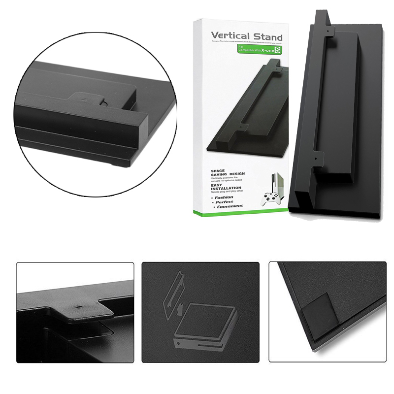 Black and White For XBOX ONE Slim Xbox One S Stand Game Console Vertical Stand Base Holder Z09 Drop ship