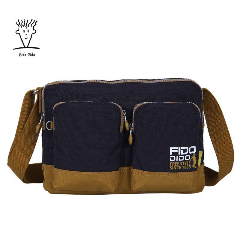 Fido Dido New Women & Men Bag Double Shoulder Bag Designer Handbags High Quality Nylon Female Handbag Bolsas Sac a Main!! fido