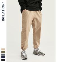 INFLATION 2020 New Streetwear Pants Men Casual Loose Pants Pure Color Men Jogger Pants Simple Style Men Pants 93353W