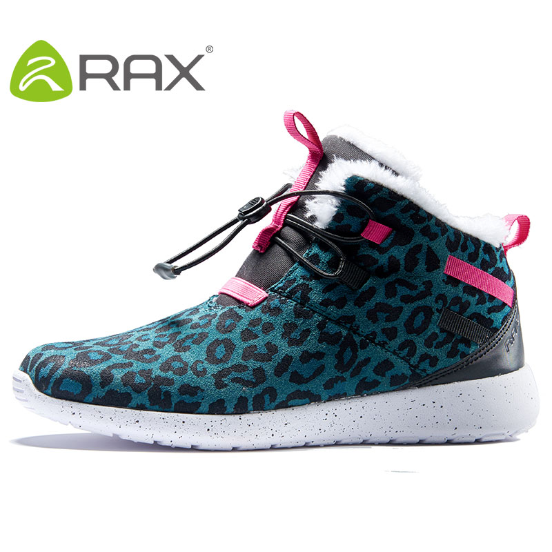 RAX 2017 autumn and winter snow boots female anti-skid ski shoes womens boots outdoor cold shoes plus velvet thick snow shoes
