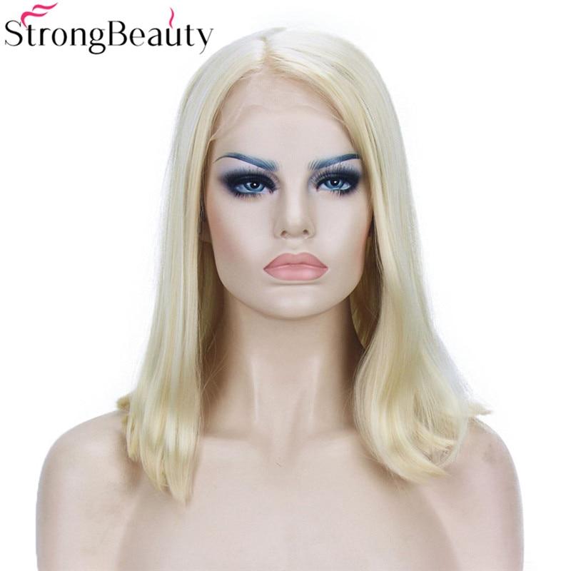 Strongbeauty Σύντομη βαμβακερή περούκα - Συνθετικά μαλλιά - Φωτογραφία 2