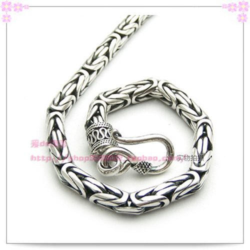 Thai Silver Chain Plain Necklace S925 Sterling Silver men's Necklace Pirate Ship equte psiw3coot1 s925 sterling silver necklace cat s eye axe pendant chain white silver 16