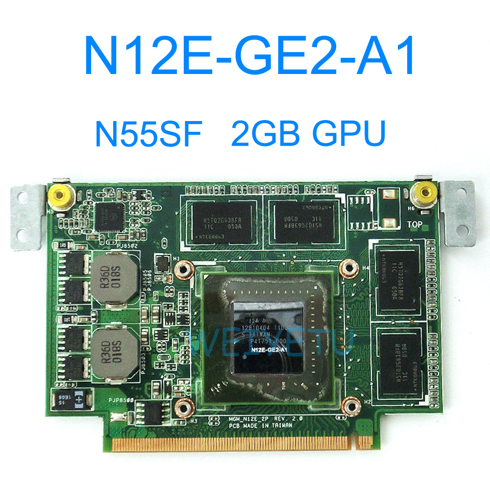 N55SF Graphic Card 2GB For ASUS N75S N55S N75SF N55SF N75SL N55SL GeForce GT555M N12E-GE2-A1 Laptop Video Card 100% Tested цены онлайн