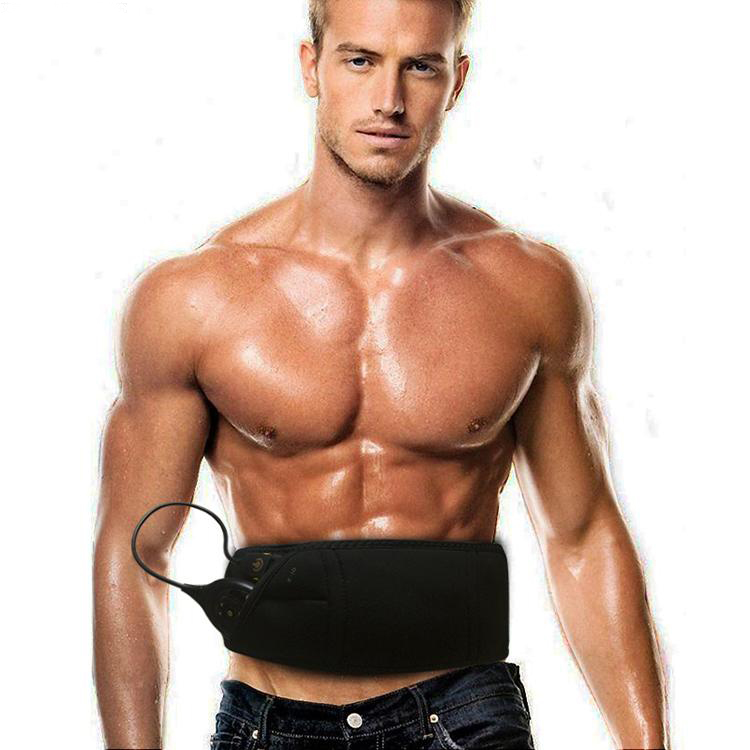 10 modes Muscle stimulator slimming massage belt Rechargeable Male Abdominal Muscle training belt Abs Workout EMS