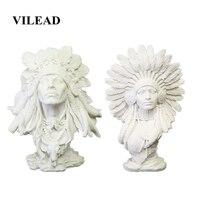 VILEAD 30cm piaskowiec indyjska kobieta statuetki kreatywni ludzie figurki akcesoria do dekoracji domu okno gablota w Posągi i rzeźby od Dom i ogród na